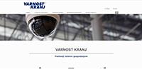 Webless - Slika prikazuje začetno stran varnost-kranj.si