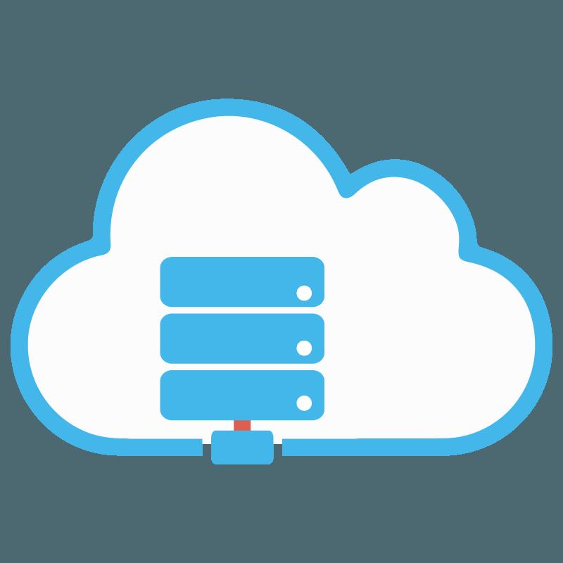 Webless - Slika prikazuje računalniški strežnik v oblaku