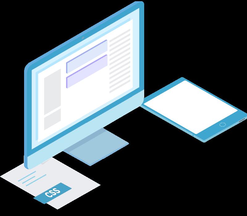 Webless - Slika prikazuje računalniško okolje za izdelavo spletnega mesta