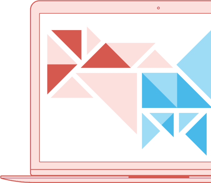Webless - Slika prikazuje računalniški zaslon z moderno grafiko