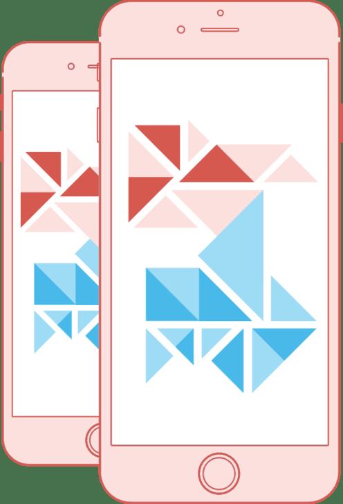 Webless - Slika prikazuje mobilni zaslon z moderno grafiko