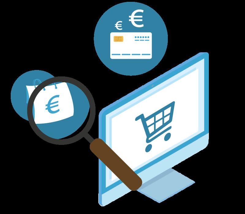 Webless - Slika grafično prikazuje elemente spletne trgovine