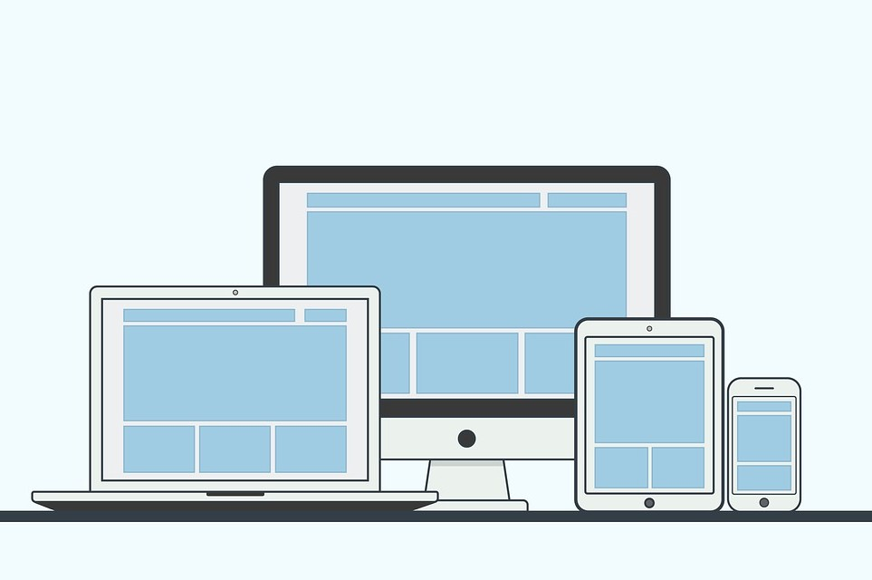 Razpored elementov spletnega mesta na različni dimenziji zaslona naprave